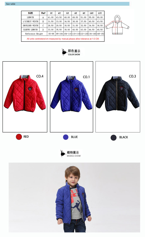 6dd0de5c0077 Kids Boy Long Sleeve Zipper Warm Coat Children Winter Antumn Pure ...
