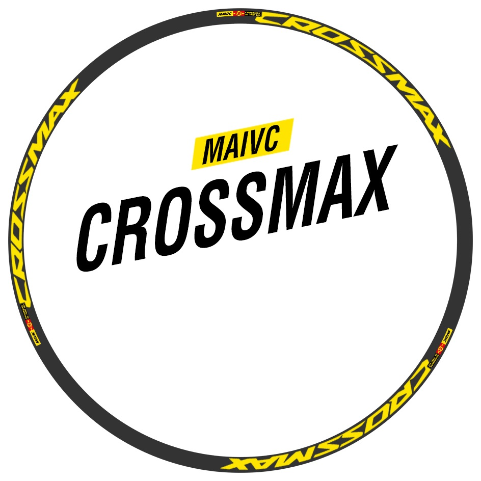 Wheels Rim Stickers for Mountain Bike Bicycle MAIVC Crossmax Sl Pro Cycle MTB Decals