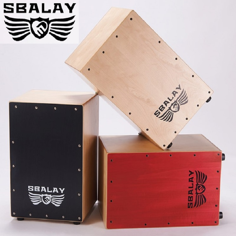 Sbalay Cajon Drum with Free Bag, 3 Colors for Frontplate