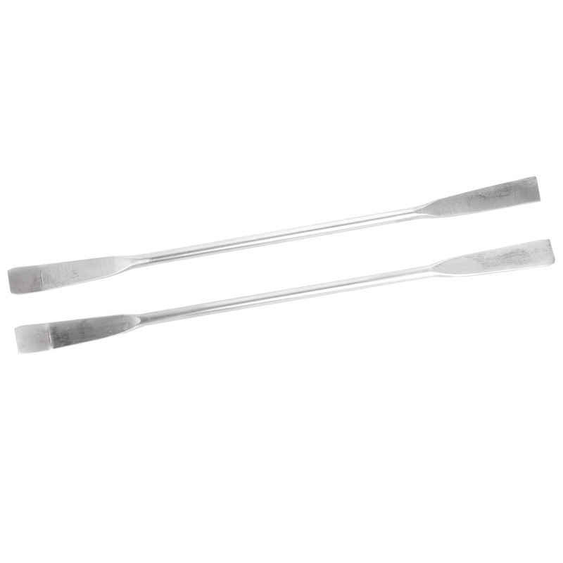 2Pcs 125mm Length Double Head Lab Instruments Stainless Steel Sampling Spatula