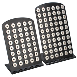 New Snap Button Display Stands Fit 40pcs & 60pcs 12mm 18mm Snap Buttons Jewelry 4 Colors Black Acrylic Display Holder