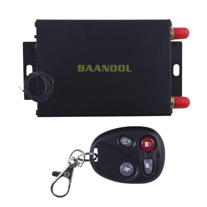 100% Original  Baanool 105B Car GPS Tracker SMS GSM GPRS Vehicle Tracking Device  Remote Control with Dual SIM Free Shipping gps vehicle gps gsm sms gprs communication terminal tracker anti thief system black