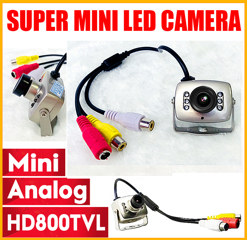цена на Mini HD 1/4cmos 700TVL Surveillance Home INDOOR Audio MIC Cctv Camera 6led Infrared Night Vision small Metal Analog Color Video