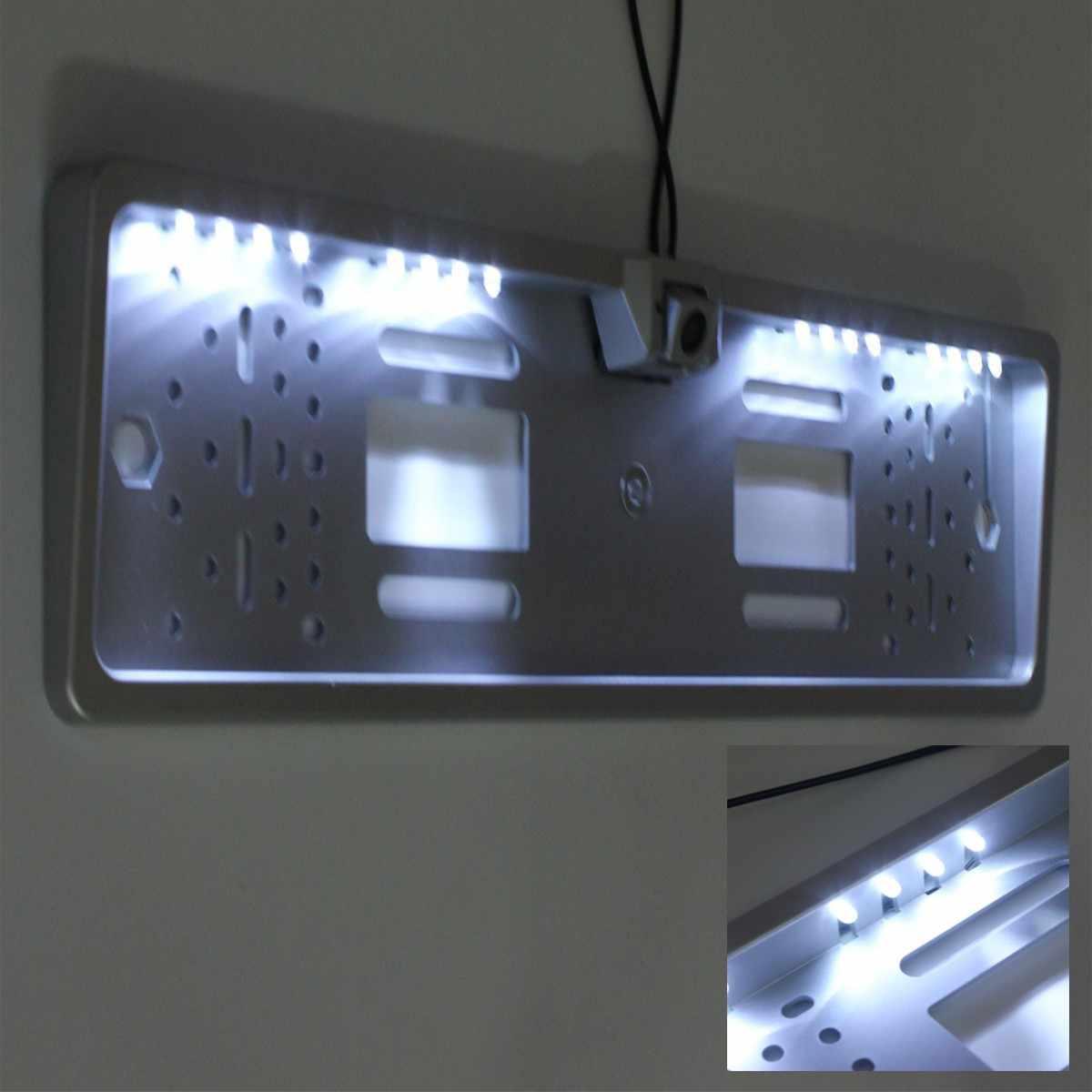 Комплект Car 16 Светодиодный номерной знак рамка света заднего вида Камера парковка реверсивном 170 градусов широкий угол обзора