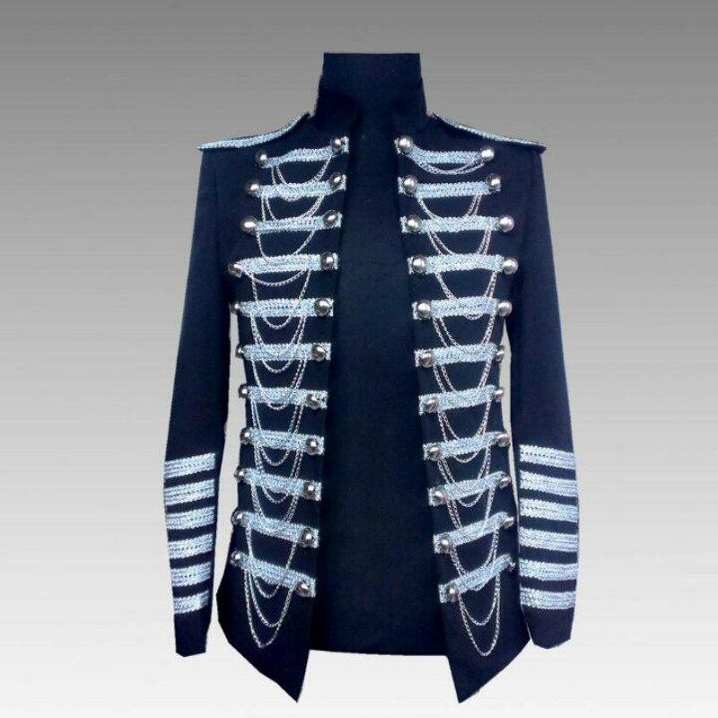 Bar chaud pour hommes exécutant des étoiles d'uniforme militaire pour hommes avec la même scène costumes Bar chanteur DS robe hôte