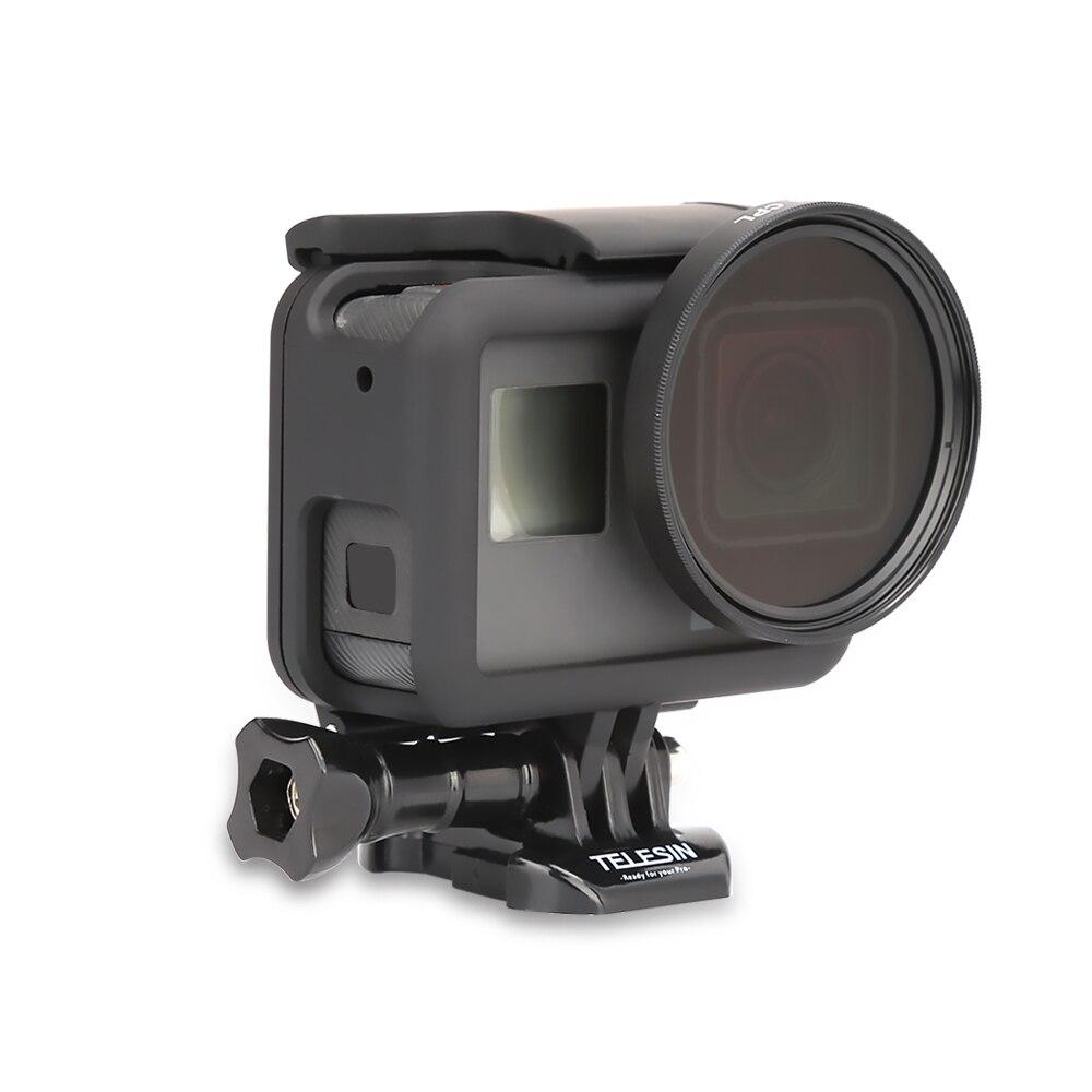 TELESIN Filtre Polarisant Circulaire Filtre Polarisant CPL Lentille Filtre + Lens Cap pour GoPro Hero 5 Hero 6 Photographie Accessoires