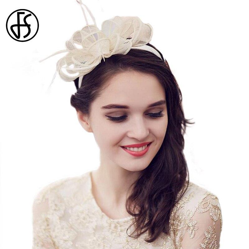FS British Ladies Sinamay Hat For Wedding Fascinators