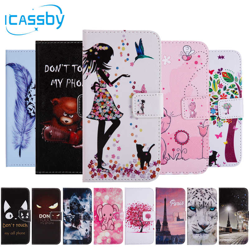 1+6 Phone Etui For Coque OnePlus 6 Case Luxury Skull Cat Bear Tiger Leather  Wallet Flip Cover For One Plus 6 OnePlus6 Capinha