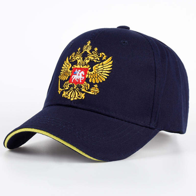 New Unisex 100%Cotton Outdoor   Baseball     Cap   Russian Emblem Embroidery Snapback Fashion Sports Hats For Men & Women Patriot   Cap