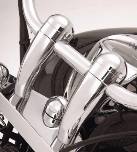 Новый 100% 5 высота chrome Круглый Руль стояки для Honda VTX Yamaha V-Star Kawasaki Vulcan 900 новый
