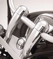 Brand new 100% 5 Height Chrome Round handlebar risers For Honda VTX Yamaha V Star Kawasaki Vulcan 900 New