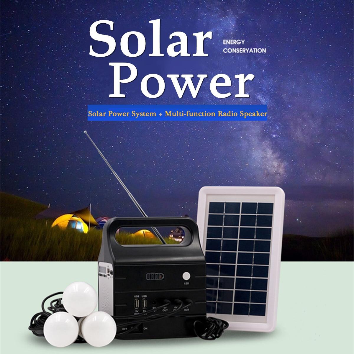 цены на 220V/3A 25W Solar Power Panel Generator + Solar Power Panel with 2xLED Bulb Solar-charging Multiple Environmental Protection