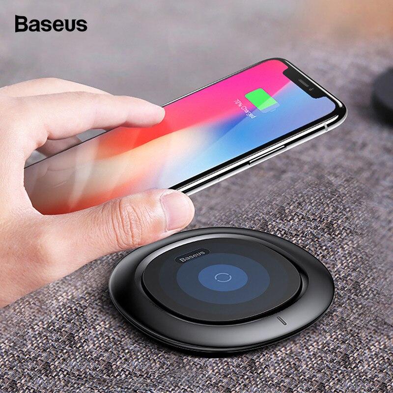 Chargeur sans fil Baseus pour iPhone Xs Max Xr X 8 Qi charge sans fil rapide pour Samsung S9 S8 Note 8 9 chargeur sans fil USBChargeur sans fil Baseus pour iPhone Xs Max Xr X 8 Qi charge sans fil rapide pour Samsung S9 S8 Note 8 9 chargeur sans fil USB