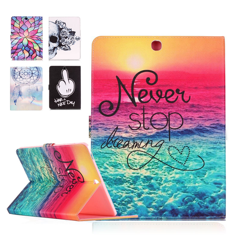 Fashion Cute Paint Cover For Apple iPad Pro 9.7 inch Case PU Leather Flip Smart Stand Brand Case Cover For iPad Pro 9.7 inch