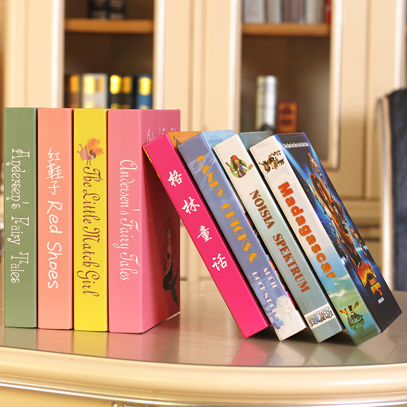 Cartoon Decoration Books Childrens Room Simulation Book Fake Model Photography Bookshelf Performance Animati In Figurines Miniatures From Home