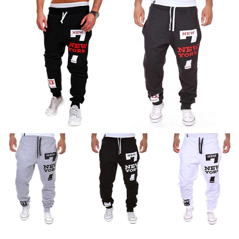 Oeak Casual Pants Men 39 s Fashion Letter Print Sweatpants New Male Lace up Loose Hip hop Long Trousers Joggers Track Cotton Pants in Harem Pants from Men 39 s Clothing
