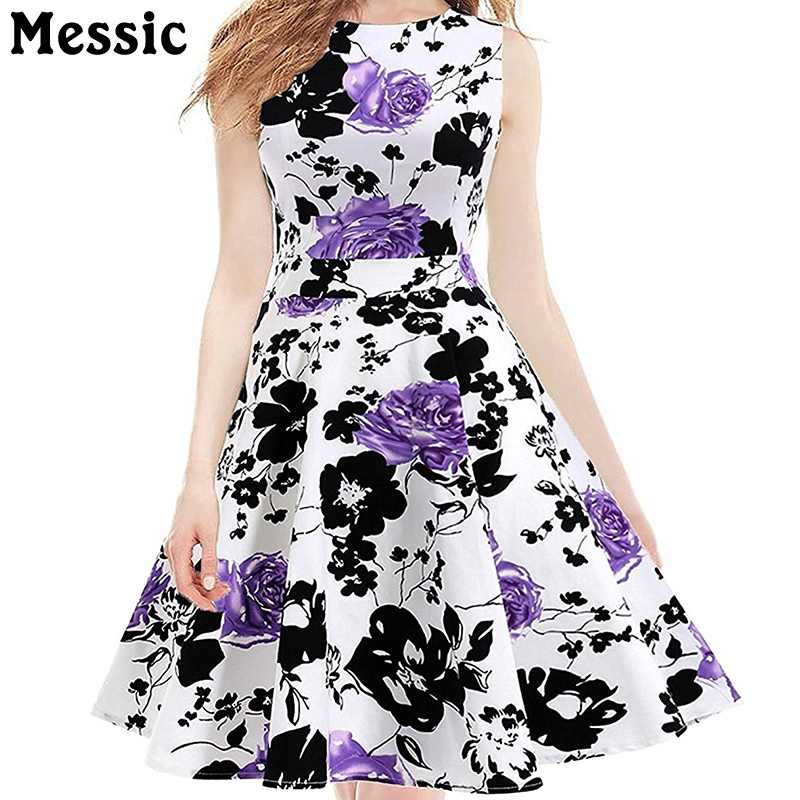 Messic Cotton Floral Women Winter Dress Knitted 2018 Casual Warm Folk-custom Empire Swing Beach Midi Long Retro Womens Dresses new 2017 hats for women mix color cotton unisex men winter women fashion hip hop knitted warm hat female beanies cap6a03