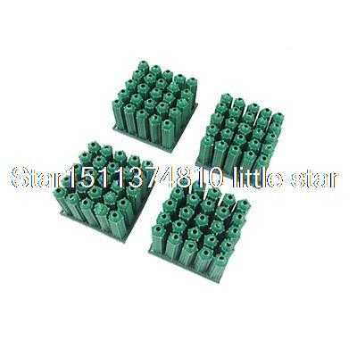 100 Pieces Nonslip Screw Fixing 6mm Plastic Wall Plug Cyan [vk] 553602 1 50 pin champ latch plug screw connectors