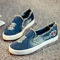 Womens Platform Shoes 2016 Distressed  Denim Canvas Shoes Women Breathable Casual Shoes Espadrilles Loafers Girls