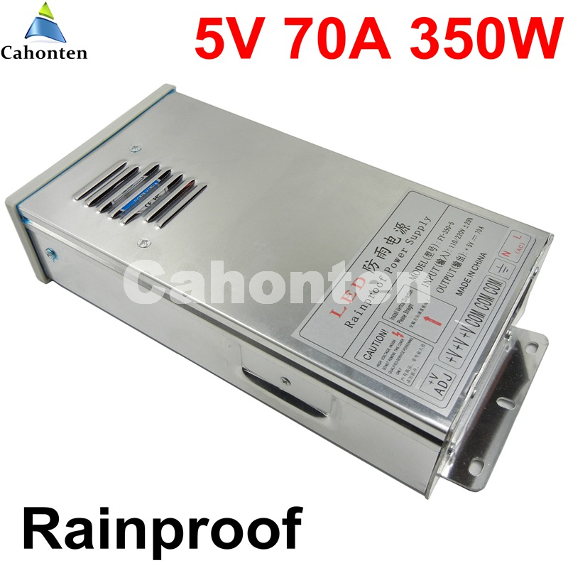 Universal 350W 5V 70A Switching power supply outdoor rainproof waterproof power adapter AC110V AC220V input AC to DC transformer meanwell 12v 350w ul certificated nes series switching power supply 85 264v ac to 12v dc