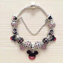 Vogue браслеты Микки и Минни Маус Подвески бисер Подходит Европейский браслеты и браслет браслеты мультфильм DIY Лидер продаж высокое качество браслет