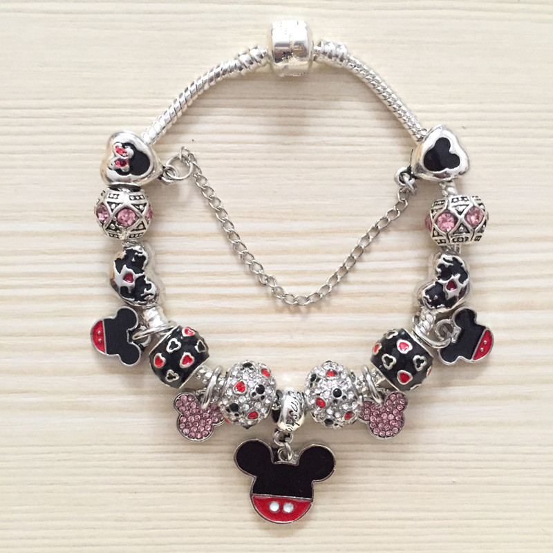 Charms And Bracelets: Vogue Bracelets Mickey Minnie Charms Beads Fits European