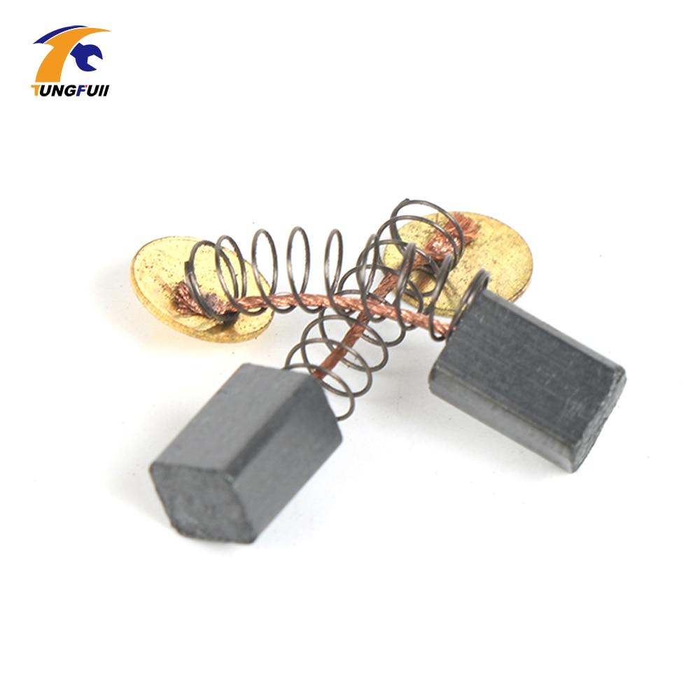 """Mini gręžimo priedai Anglies šepetėliai, 5 mm """"Dremel"""" sukamojo įrankio atsarginės dalys, skirtos elektrinėms gręžimo mašinoms, graviruojančioms rinkinį"""