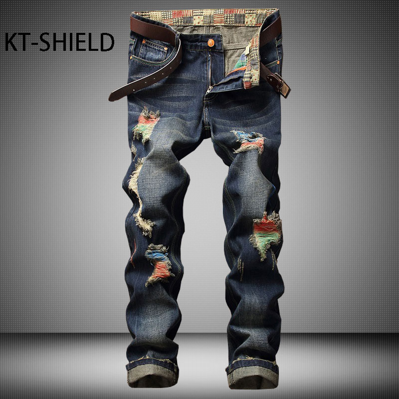 ripped distressed jeans mens cotton cargo denim trousers brand Casual Hip hop joggers pants hombre biker Motorcycle pantalon biker jeans mens brand black skinny ripped zipper full length pants hip hop cotton denim distressed pantalones vaqueros hombre