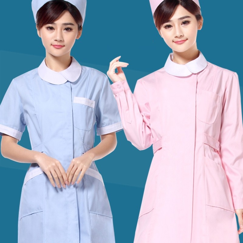 2018 Summer New High Quality Nurse Clothing Beauty Hospital Receptionist Work Wear Pet Shop Staff Dress Uniforms Free Shipping