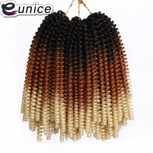 Eunice 8Inch 30Strands/Pack T1B/30/613 Blonde Ombre Spring Twist Hair Crochet