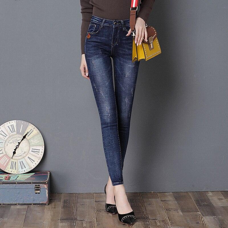 TYHFLY Skinny Jeans Mujer Tramo Vaqueros Delgados Rectos de los ...