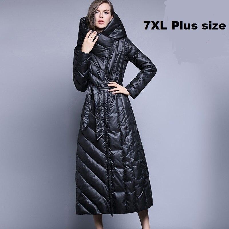 De Plus 90 Épais Veste Marque Le À Long Femmes Down Genou Chaud Duvet Black Mode 7xl Canard Manteau Mince blue Sur Wj1304 Taille Xs Capuche R5qnXtC