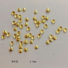 1 Pack About100psc New Nail Semicircle Rivets 2mm Gold and Silver Sticker 3D Art Decoracao Glue paste Tools M36