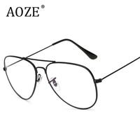 2017 Stylish New Classic Computer Glasses Anti Radiation Women With Mirror Plain Mirror Men Aviator Eyewear