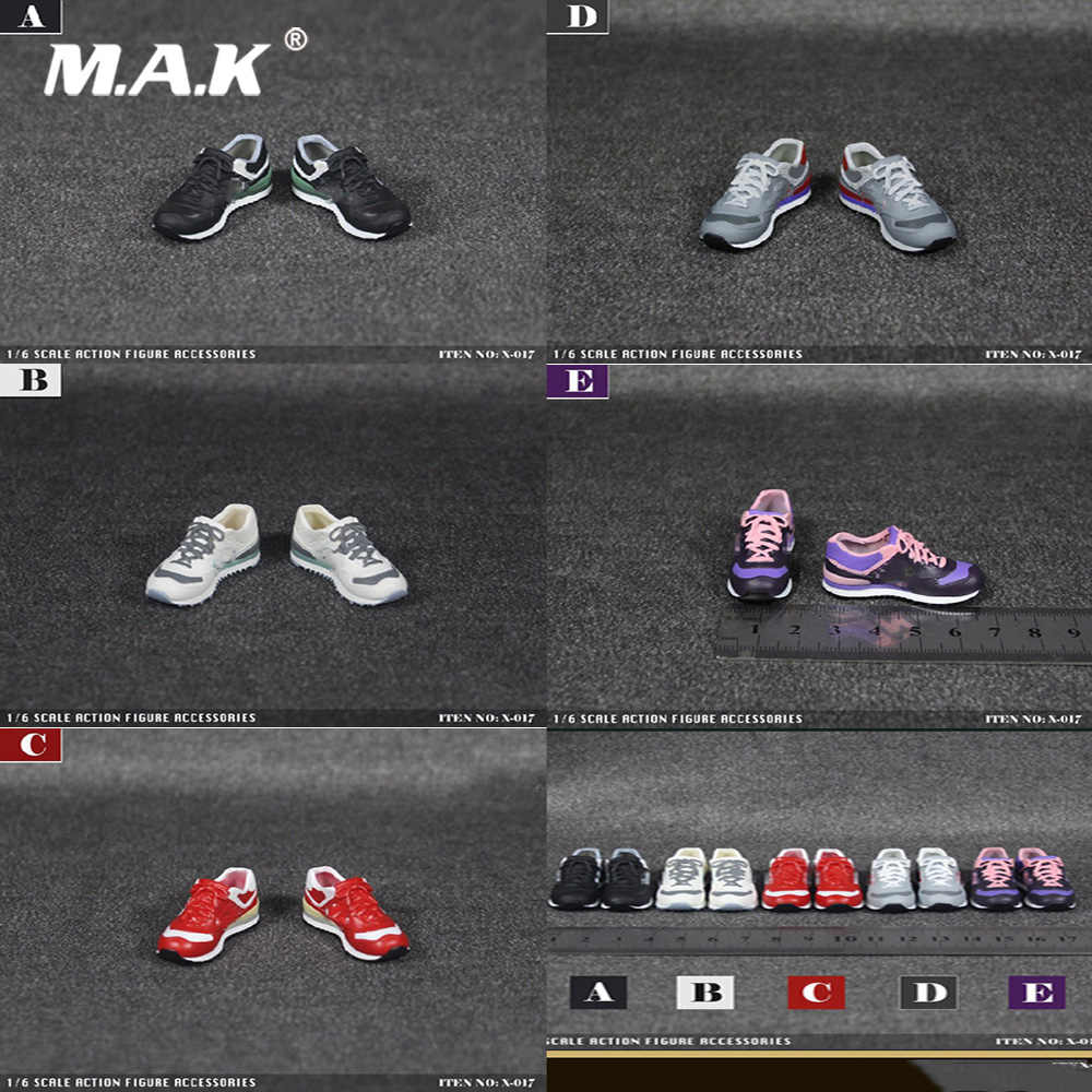"X-TOYS 1//6 X-017 Female Sports Shoes Sneakers Fit 12/"" Body Casual Shoes In Stock"