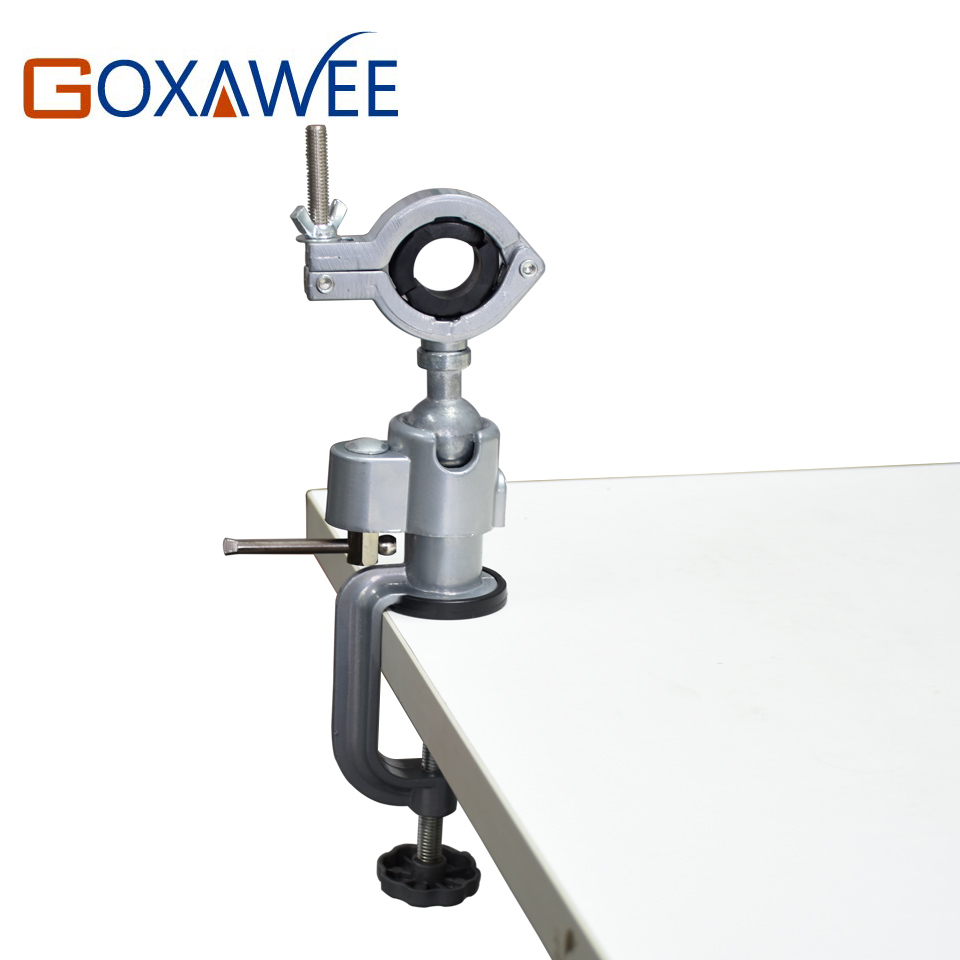 GOXAWEE Mini Drill Rotary Werkzeuge Tisch Umge Halter Mini Umge Schraubstock Legierung Aluminium Bank Tisch Klemme für Dremel Bohrer werkzeuge