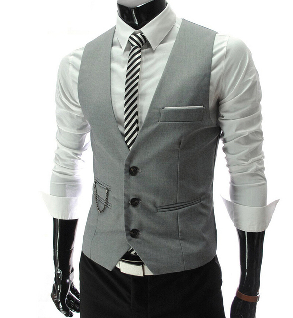 New Arrival Suit Vest Men gilet Solid White Grey Black Red Formal Dress Slim Fit Male Waistcoat Wedding Blazer Vest Plus 3XL