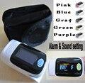 With Black Carring Bag CE FDA Fingertip Pulse Oximeter, Blood Oxygen SpO2 saturation oximetro monitor Alarm Setting & BP sound