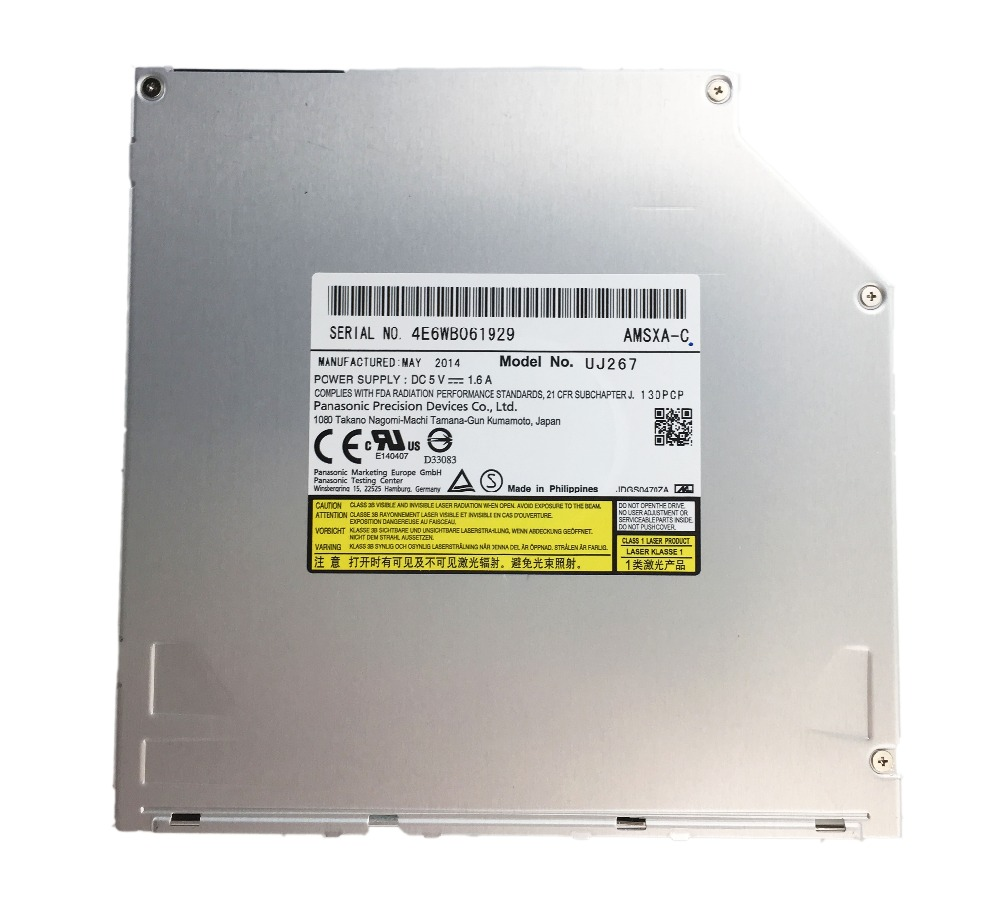Orignal NEW bluray drive internal BD-RE uj-267 6X SATA 9.5mm bluray burner for Panasoni UJ267 SATA Slot in Blu ray Burner new blu ray dvd rewriter 12 7mm sata laptop drive for panasonic uj 260 uj260 6x