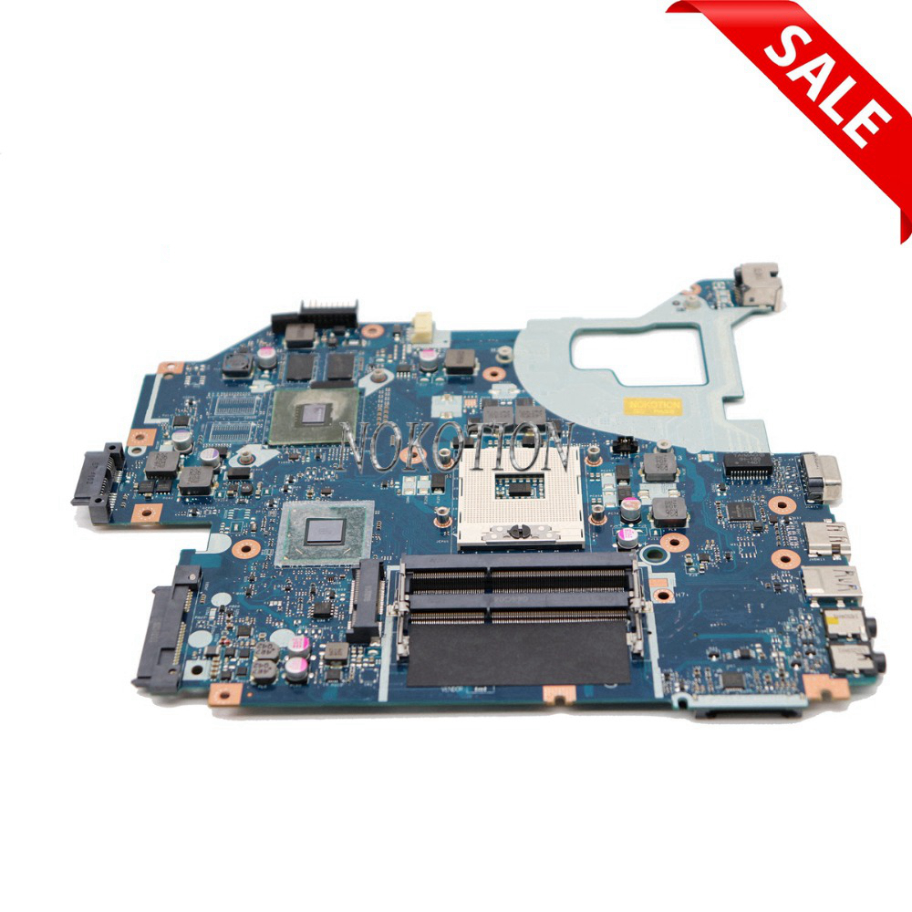 NOKOTION laptop motherboard for ACER Aspire E1-571G V3-571G V3-571 NBM6B11001 Q5WV1 LA-7912P Geforce 620M 1G HM77 PGA989 DDR3 original laptop motherboard for acer aspire v3 571g e1 571g nv56r q5wvh la 7912p nbc1f11001 hm70 pga989 ddr3 fully tested