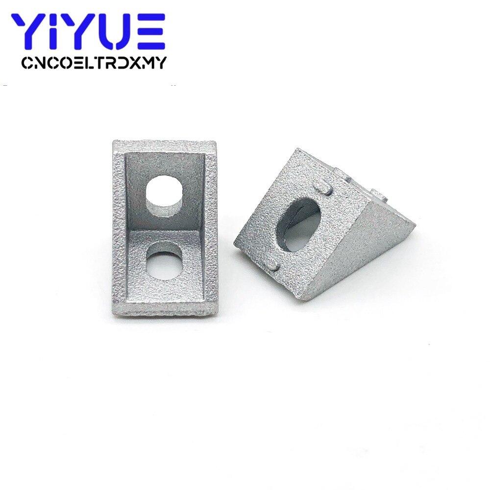 10Pcs 2020 Corner Fitting Angle Aluminum 20 X 20 L Connector Bracket Fastener Match Use 2020 Industrial Aluminum Profile A02