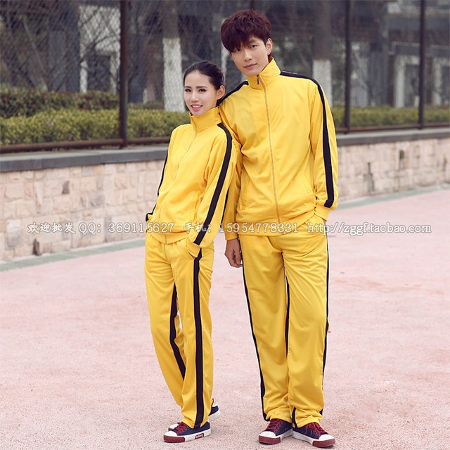 Bruce Lee Uniform Game Of Death YELLOW CLOTHING To Dress The Role Of A Stage Play Clothes For  ADULT  PRO SPORTSWEAR