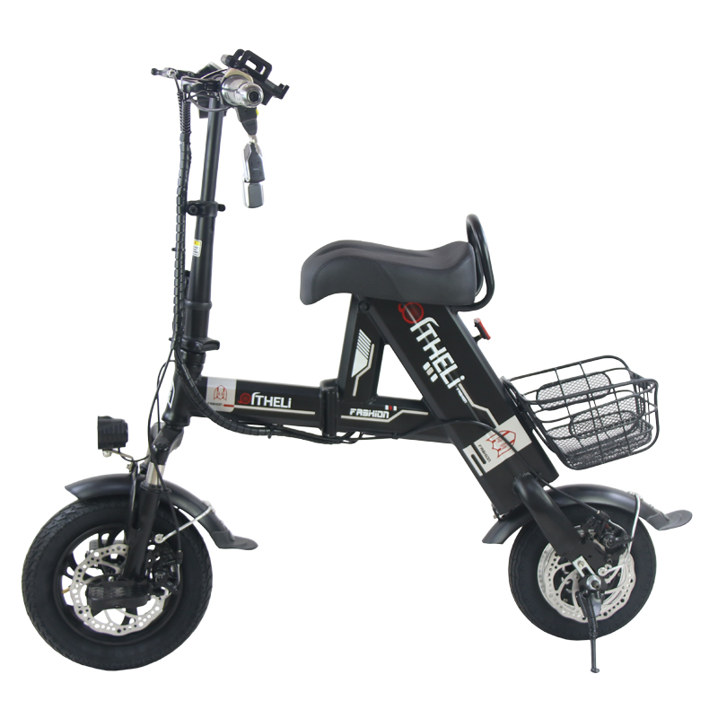 Perfect folding electric bike parent-child electric bicycle 12inch 2 people Folding portable ebike lithium battery electric bicycle 3