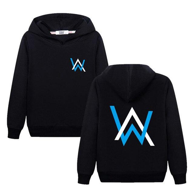 2018 niños niñas moda DJ Sudadera con capucha Junior AW impreso suéter niños algodón pulóver Alan Walker se desvanece dormir sola