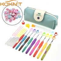 KOKNIT Crochet Hooks Set Yarn Knitting Needles Sewing Tools Set 9pcs Mix 2-6 mm Crochet Hooks With Case Sewing Tools CK099-C1