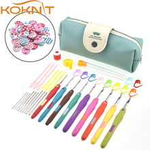 KOKNIT Crochet Hooks Set Yarn Knitting Needles Sewing Tools 9pcs Mix 2-6 mm With Case CK099-C1