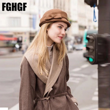 FGHGF Women Wool Felt Fedoras Soild Nice Bow Adorn Round Top