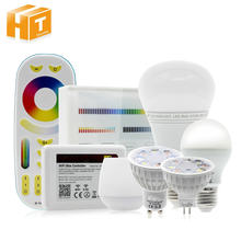 Bombilla LED inteligente RGB + blanco cálido cambiable y regulable 2,4G Wifi Control remoto inteligente luz LED e27 GU10 MR16 bombilla LED(China)