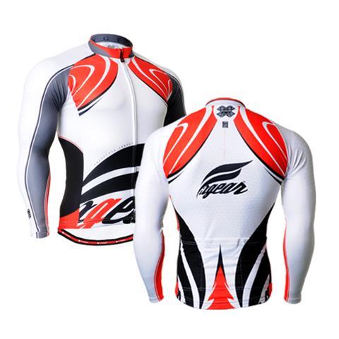 2017 hombres de la primavera de manga larga blanco negro rojo ciclismo Jersey fresco Road mountain bike ropa ciclo Top MTB bicicleta camisa