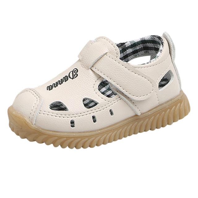 baby shoes Boys Beach Sandals Sneaker toddler girl sneakers shoes Children Letter Casual Single Shoes